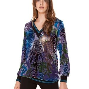 Hale Bob Large Marcella Velvet Burnout Top Sweater
